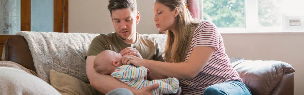 A couple parenting after fertility problems
