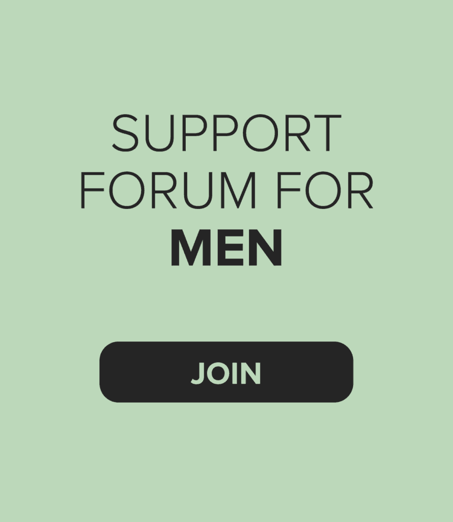 Join our support forum for men about fertility issues