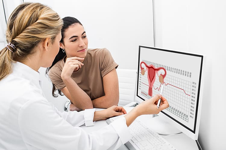 Doctor explaining PCOS to a patient