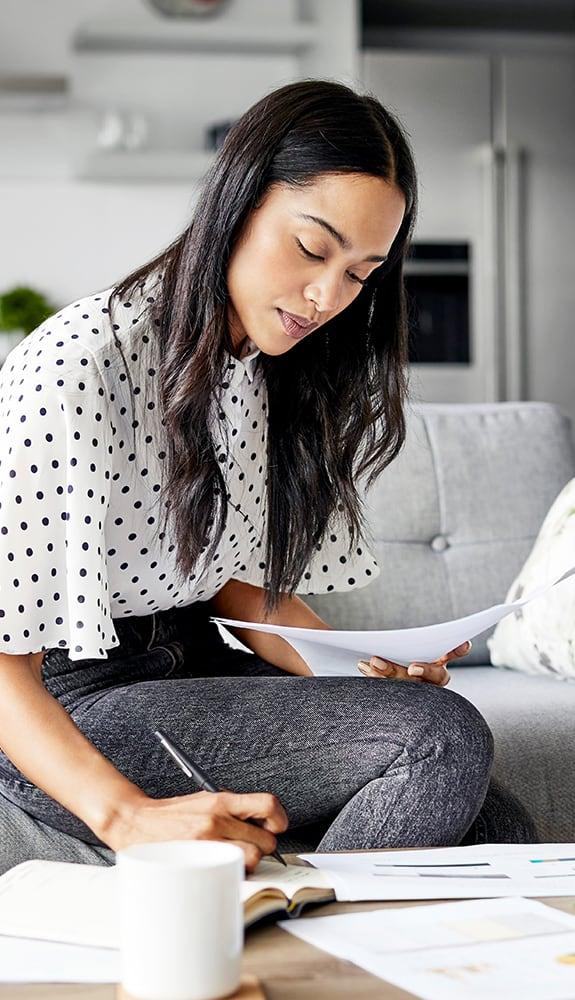 Woman educating herself before seeking treatment for infertility